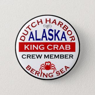 Dutch Harbor Alaskan King Crab Crew Member Button