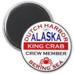 Dutch Harbor Alaskan King Crab Crew Member Magnets