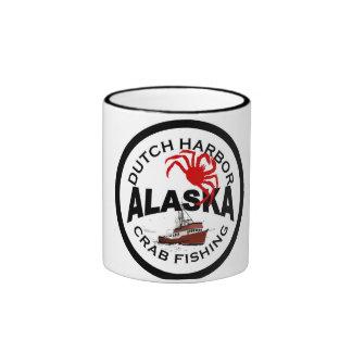 Dutch Harbor Crab Fishing Ringer Coffee Mug