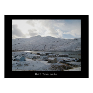 Dutch Harbor Houses, Dutch Harbor, Alaska Poster