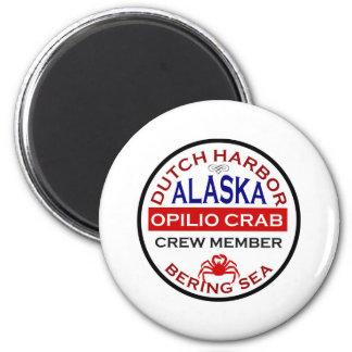 Dutch Harbor Opilio Crab Crew Member 2 Inch Round Magnet
