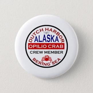 Dutch Harbor Opilio Crab Crew Member Pinback Button