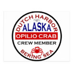Dutch Harbor Opilio Crab Crew Member Post Card