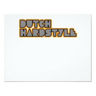 Dutch Hardstyle Hardbass music qlimax q base 4.25x5.5 Paper Invitation Card