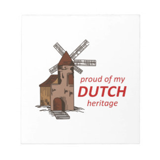 DUTCH HERITAGE MEMO NOTEPAD