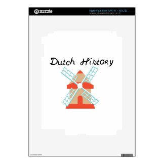 Dutch History Decal For iPad 3