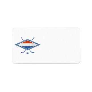 Dutch Hockey Flag Logo Address Label