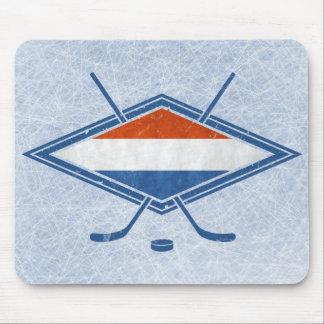 Dutch Hockey Flag Logo Mouse Pad