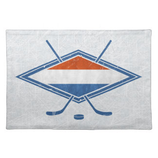 Dutch Ice Hockey Flag Place Setting Placemat