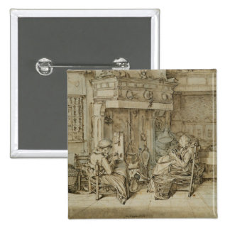Dutch interior, 1617 pin