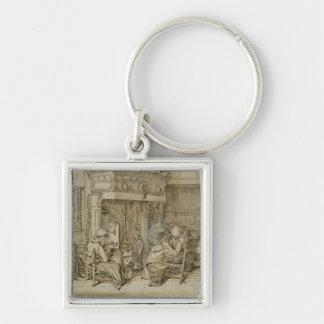Dutch interior, 1617 keychain