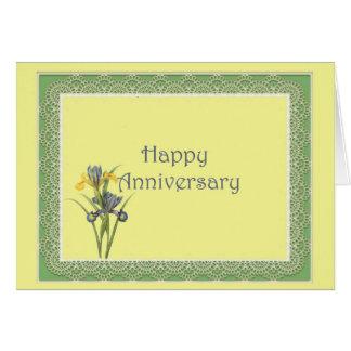Dutch Iris Anniversary Card