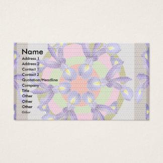 Dutch IRIS  Flowers - Holy Purple Business Card