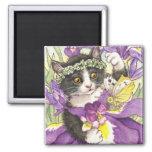 Dutch Iris Kitten Magnet