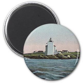 Dutch Island lighthouse 2 Inch Round Magnet