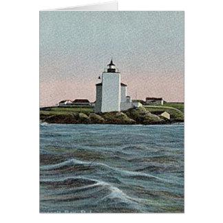 Dutch Island lighthouse Card