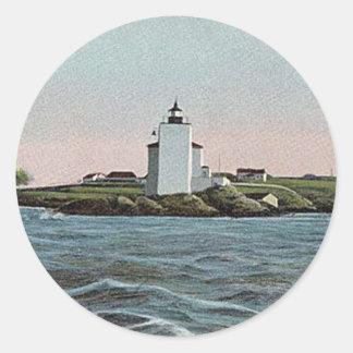 Dutch Island lighthouse Classic Round Sticker
