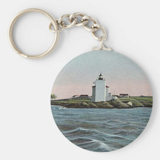 Dutch Island lighthouse Keychain