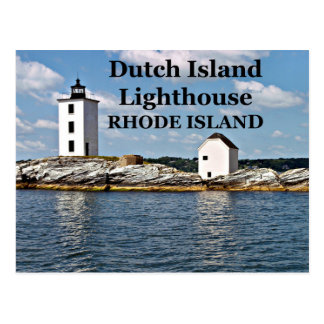 Dutch Island Lighthouse, Rhode Island Postcard