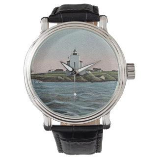 Dutch Island lighthouse Wrist Watches