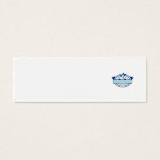Dutch Lady Wearing Bonnet Oval Ribbon Retro Mini Business Card
