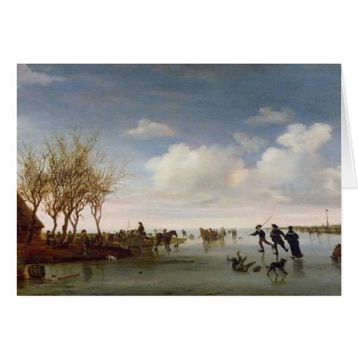 Dutch landscape with Skaters Card