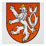 Dutch lion emblem Netherlands lion Shield Poster