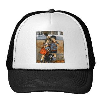 Dutch little boy and girl trucker hats