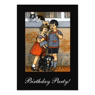Dutch little boy and girl 5x7 paper invitation card