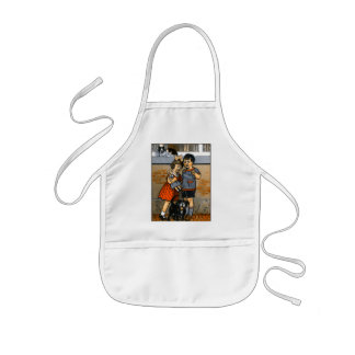 Dutch little boy and girl kids' apron