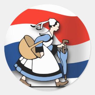 Dutch Maids Round Stickers