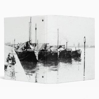 Dutch Market Boats 1888 Binder