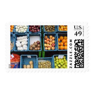 Dutch Market Food Vegetables Photo Postage Stamps
