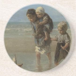Dutch masters - painting sandstone coaster