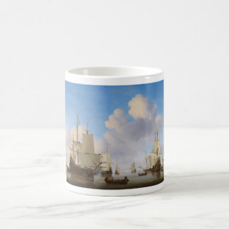 Dutch Men-o'-War and Other Shipping in a Calm Classic White Coffee Mug