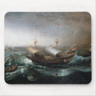Dutch Merchant Vessels and a Smalschip Accompanied Mouse Pad