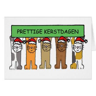 Dutch Merry Christmas, Prettige Kerstdagen. Card