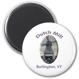 Dutch Mill Gas Station 2 Inch Round Magnet
