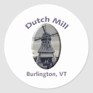 Dutch Mill Gas Station Classic Round Sticker