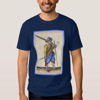 Dutch Musketeer T-Shirt from Engraving by DeGheyn