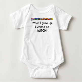 Dutch National and Provincial Flags Baby Bodysuit