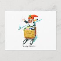 Dutch New Year Gelukkig Nieuwjaar Holiday Postcard