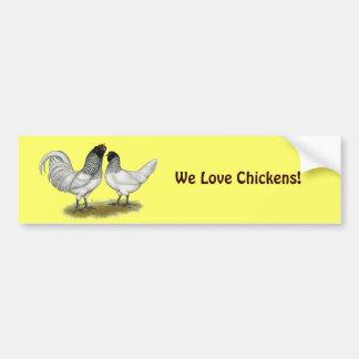 Dutch Owl Beard Chickens Bumper Stickers
