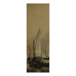 Dutch Painting Boats on Sea Holland Bookmark Business Card Template