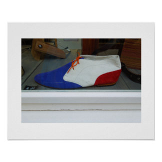 Dutch Photograph Red White Blue Shoe Poster