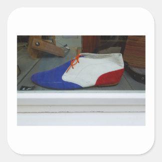 Dutch Photograph Red White Blue Shoe Square Sticker