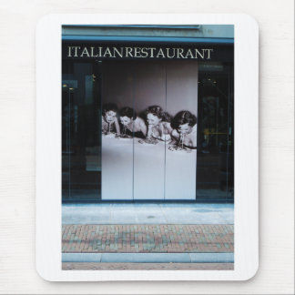Dutch Photograph Window Italian Resturant Mouse Pad