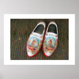 Dutch Photograph Worn Wooden Shoes Poster