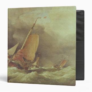 Dutch Pincks Running to Anchor off Yarmouth Binder