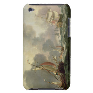 Dutch Pinks and a British Frigate in Choppy Seas iPod Touch Cover